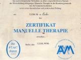 Zertifikat Manuelle Therapie, 1996