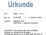 Urkunde - Ausübung der Heilkunde ohne Bestallung, 2012